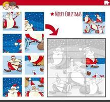 gioco di puzzle con personaggi comici di Natale
