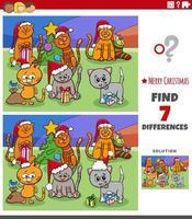 differenze compito educativo per bambini con gatti vettore