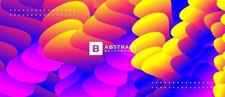 rosa arancione 3d sfondo astratto onda strutturato vettore
