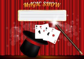 vettore di modello di spettacolo magico
