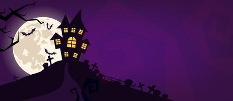 sfondo vettoriale spaventoso di Halloween.