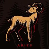 segno zodiacale Ariete vettore