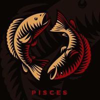 segno zodiacale Pesci vettore