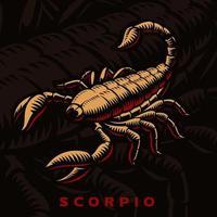 segno zodiacale Scorpione vettore