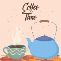 composizione del tempo del caffè vettore