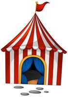 circo in stile cartone animato su sfondo bianco