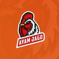 logo della mascotte del gallo vettore