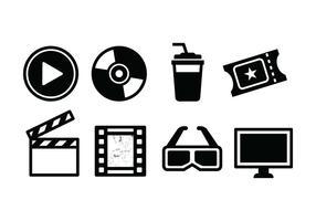 Set di icone di film gratis vettore