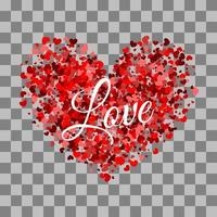 cuore rosso fatto di design di San Valentino piccoli cuori