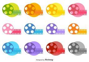 film canister icone vettoriali colore