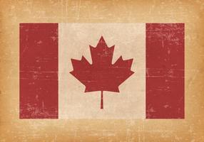 Bandiera canadese su sfondo grunge vettore