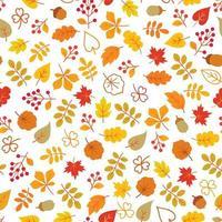 modello senza cuciture delle foglie di autunno