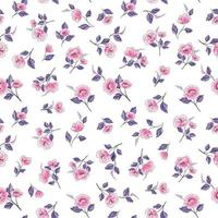 motivo floreale rosa e viola senza soluzione di continuità