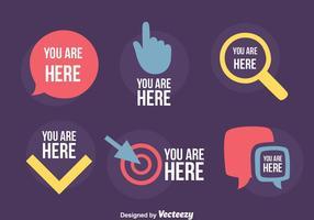 Tu sei qui segno vettoriale