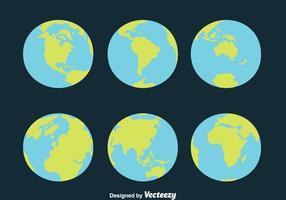 Vettori di globo terrestre