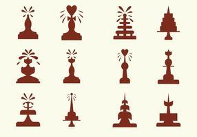Icone di vettore di Fontana di cioccolato divertente