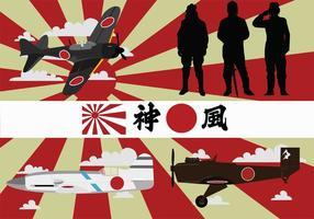 Pacchetto di vettore Kamikaze della seconda guerra mondiale