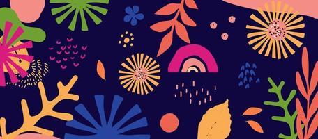 foglie e fiori colorati