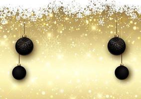 sfondo di Natale con decorazioni pendenti vettore