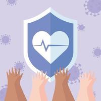 composizione di saluto e gratitudine per gli operatori sanitari vettore