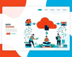 sistema di condivisione dei dati al concetto di cloud vettore