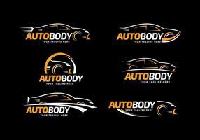 Vettore automatico del modello di logo del corpo automatico