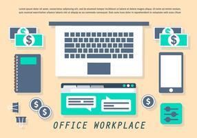 Illustrazione libera di vettore del posto di lavoro dell'ufficio