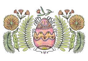 Vettore decorativo del fondo dell'uovo di Pasqua