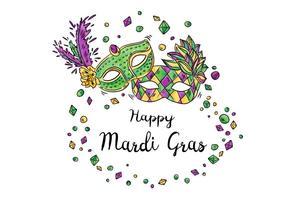 Felice Mardi Gras Festival Design vettoriale