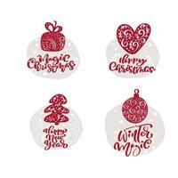 scarabocchi di Natale con testo calligrafico