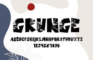 alfabeto grunge disegnato a mano vettore