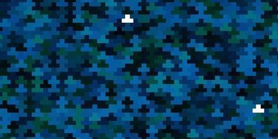 sfondo blu e verde con rettangoli.