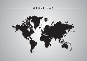 Goccia ombra mondo mappa vettoriale