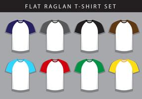 T-Shirt Raglan vettore