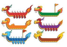 Vettore di festival della barca del drago