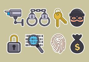 Set di icone vettoriali furto