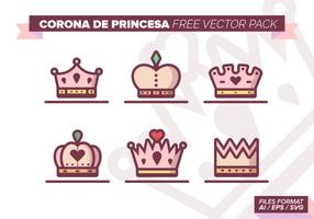 pacchetto vettoriale corona de princesa