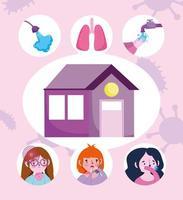 sintomi del coronavirus e banner di prevenzione