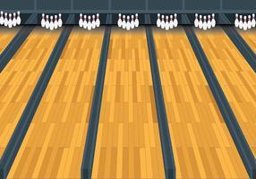 Sfondo vettoriale di Bowling Lane gratis