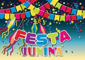 Illustrazione di Festa Junina vettoriale