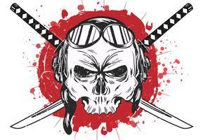 Cranio del vettore Kamikaze
