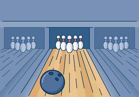 Illustrazione di bowling vettore
