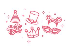 Festa Icon Set vettoriale