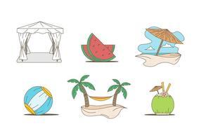 Vettori di vacanza eccezionale spiaggia libera