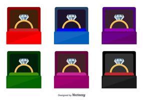 icone vettoriali scatola di anello