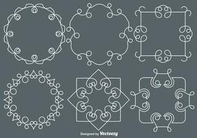 Monogrammi stile linea vettoriale