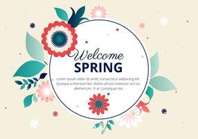 Tipografia di vettore di fiore di primavera