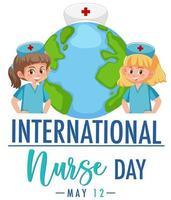 banner della giornata internazionale dell'infermiera