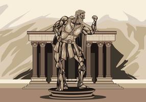 Illustrazione della statua di Ercole vettore