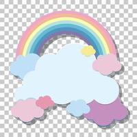 arcobaleno pastello e nuvole